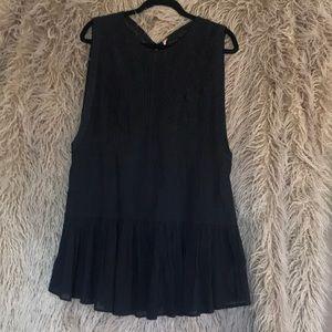 Black lace tunic. Free people small